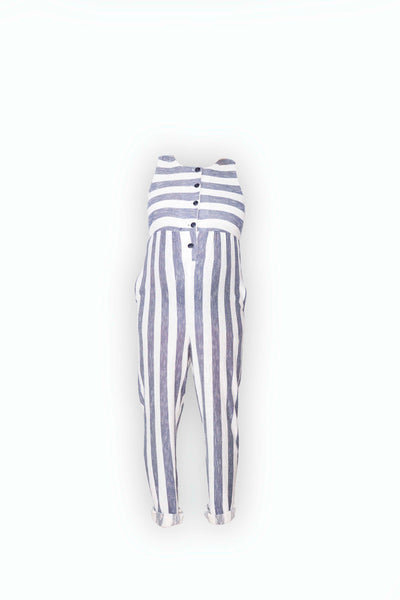 Martha Jumpsuit in striped cotton jersey