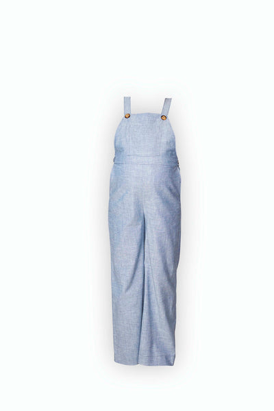 Alice Palazzo Overalls in light blue linen