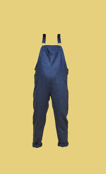 Doris Dungarees French Navy Linen