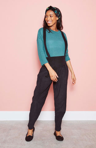 Bobbie Trousers in Black Needlecord