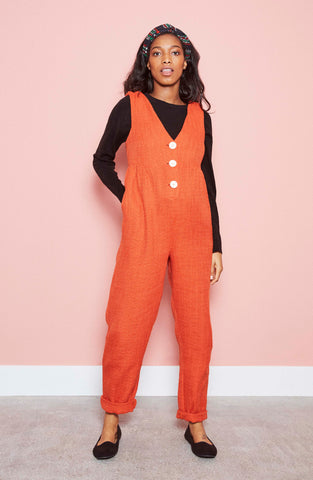 Mary Jumpsuit in Burnt Orange