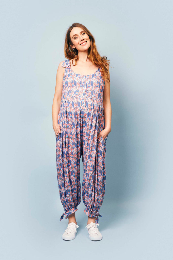 Molly Jumpsuit in Abstract Print