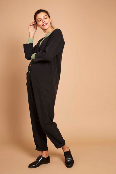 Betty Boilersuit in Black Tencel Twill