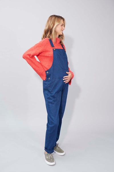 Doris Dungarees in Blue Denim