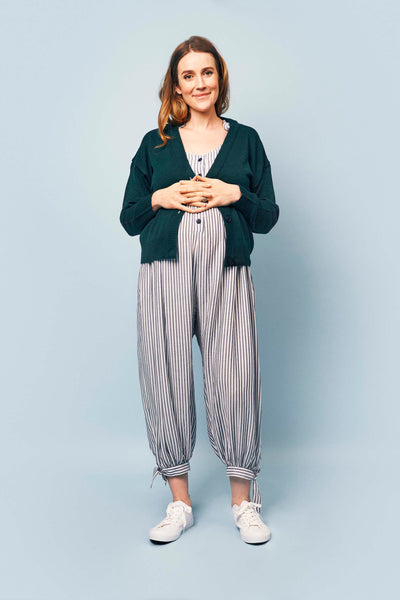 Molly Jumpsuit in Blue and White stripe