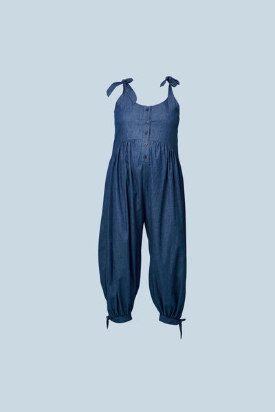 Molly Jumpsuit in Cotton Chambray