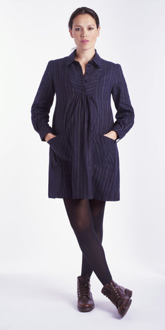 Stripe Button Smock