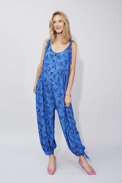 Molly Jumpsuit in Electric Blue