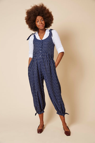 Molly jumpsuit in Indigo Blue Ikat