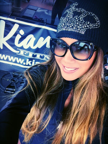 Crown Bling Beanie - Kiana Fitness Shop