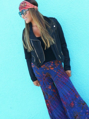 NEW! Fit Hippie Palazzo Pants - Midnight Swim - Kiana Fitness Shop - 1