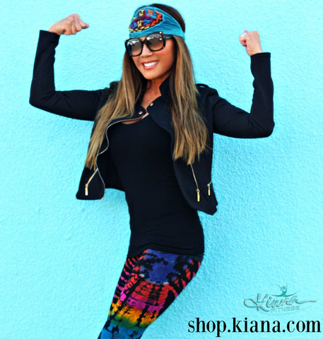 NEW! Fit Hippie Leggings - Blue Moon - Kiana Fitness Shop - 4
