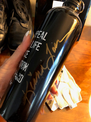 SIGNED KIANA'S FLEX APPEAL MATTE BLACK DRINKING BOTTLE