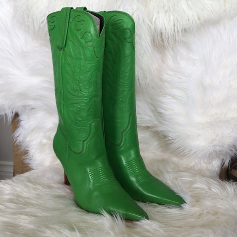 LUCHESE GREEN APPLE BOOTS WITH PHOTO IN BOOTS