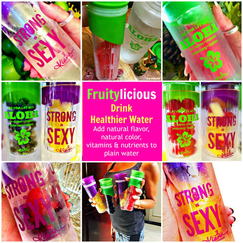Detox Infusion Water Bottle: Strong is SEXY - Kiana Fitness Shop - 12