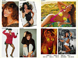 Autographed Color 9 Photo 2 sided Modeling Composite