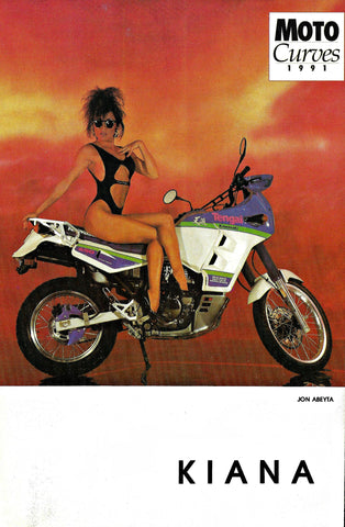 Autographed Color Photo 2 sided Modeling Composite Lingerie Hot Bike