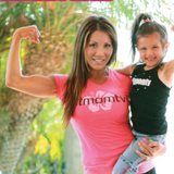 Fit Mom TV Short Sleeve Shirt - Hot Pink