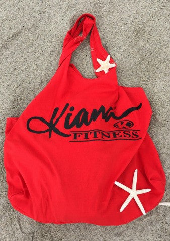 Kiana Multi Purpose Reusable Tote - Red - Kiana Fitness Shop - 1