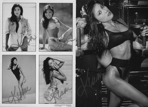 Autographed 2 sided Modeling Composite