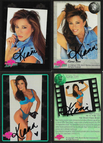 2 Signed Color Trading Cards: Headshot & Swimsuit Benchwarmer Series