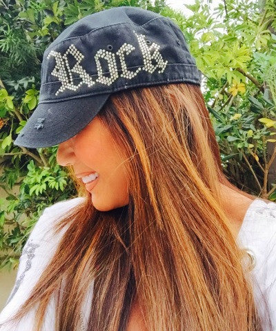ROCK Bling Cadet Cap - Black - Kiana Fitness Shop - 1