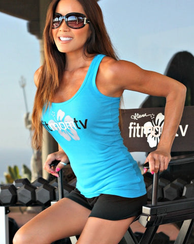 Fit Mom TV Tank Tops - Maui Blue