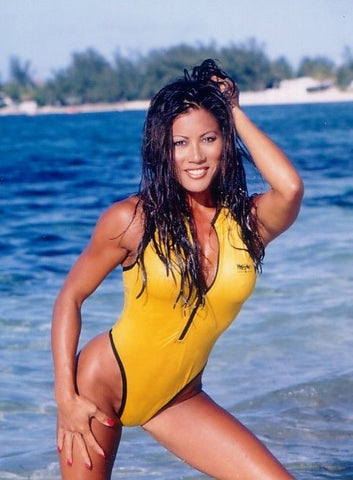 "Signed Yellow Swimsuit Poster 18""x24"""