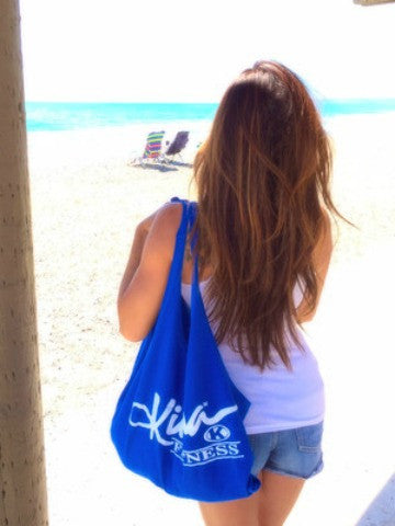 Kiana Multi Purpose Reusable Tote - Ocean Blue - Kiana Fitness Shop - 4