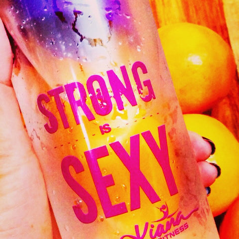Detox Infusion Water Bottle: Strong is SEXY - Kiana Fitness Shop - 5