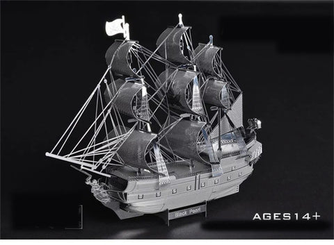 The Black Pearl and The Flying Dutchmen Pirate Ship - Metaltech Models