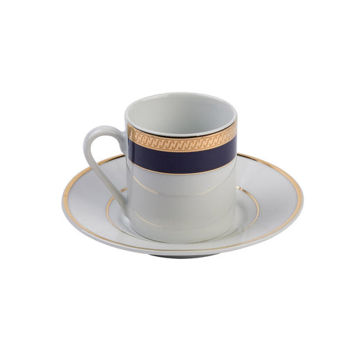 Kingsley Cobalt Demitasse (espresso) Cup with Saucer- 3.5 oz