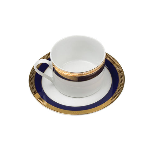 Kingsley Cobalt Short Coffee Cup (or tea) / Saucer
