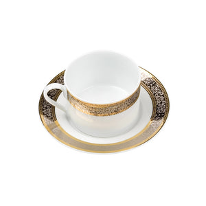 Cotillion Platinum with Gold Short Coffee Cup (or tea) / Saucer