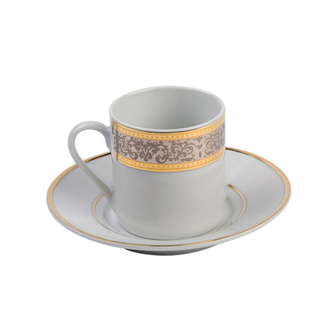 Cotillion Platinum Demitasse (espresso) Cup with Saucer - 3.5oz