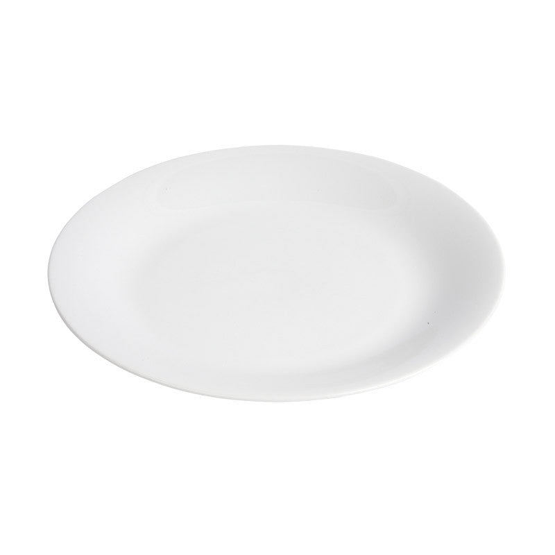 White Porcelain Round Coupe Plates IEP