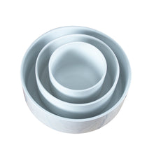 Load image into Gallery viewer, White Porcelain Stacking Round Cylinder Serving Bowls IEP