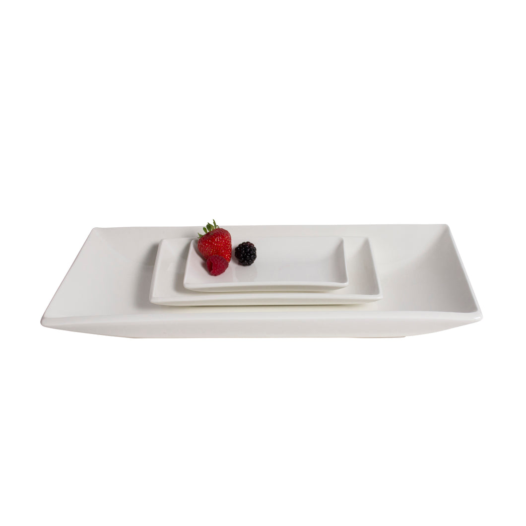 White Porcelain Deep Rectangle Platter IEP