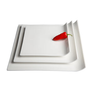 White Porcelain Passed Hors d'oeuvre Tray IEP