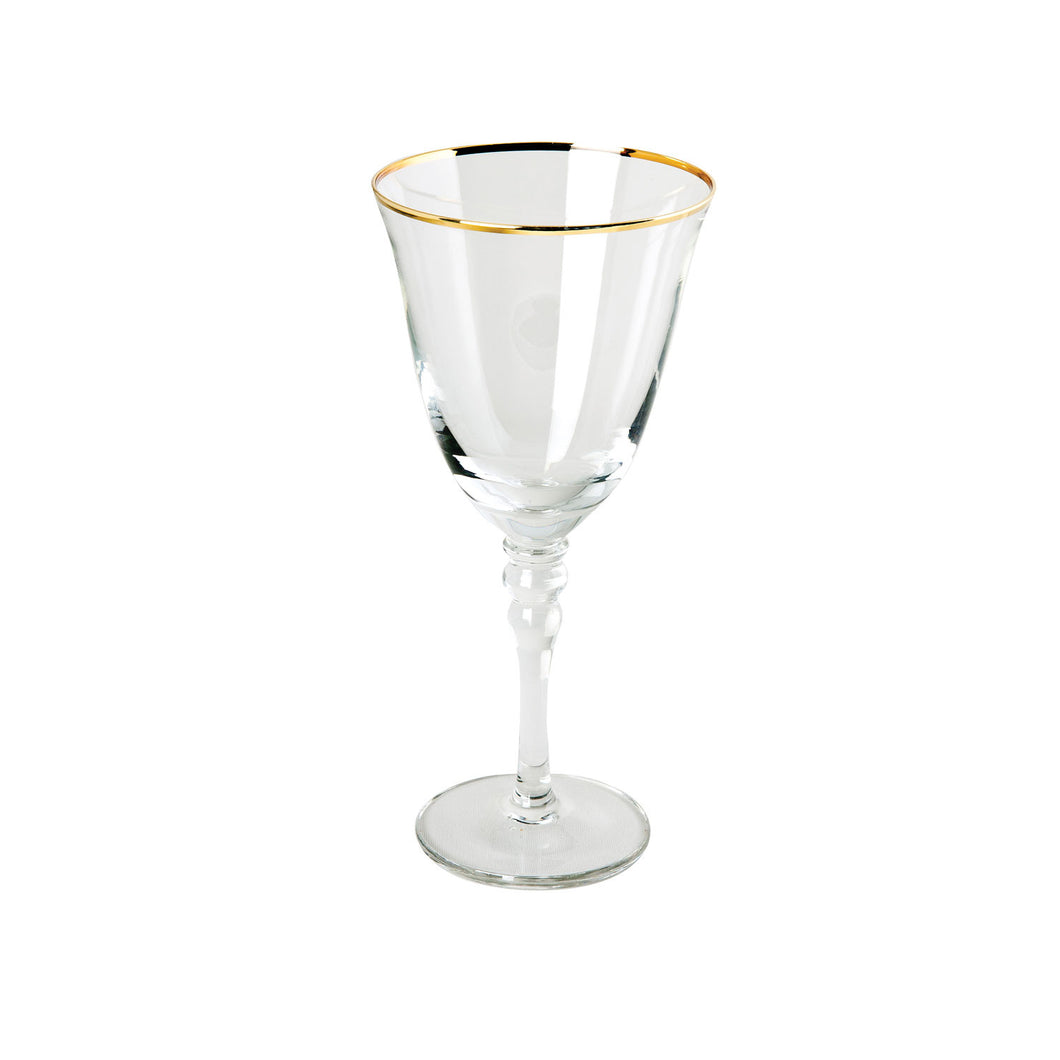 Gold Band White Wine Glass IEP