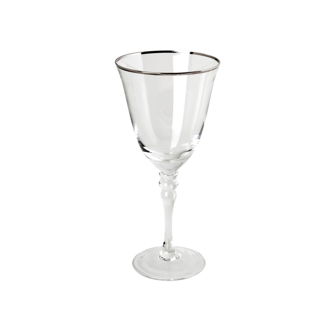 Thin Silver Rim Red Wine - 14 oz