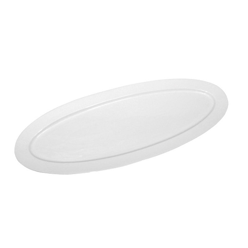 White Porcelain Long Oval Platter IEP