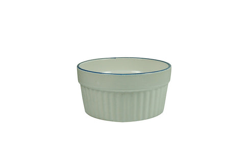 "Ramekin with Blue Rim 3.75"" - 7 oz"