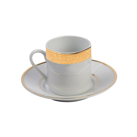 Majestic Gold Demitasse (espresso) Cup with Saucer- 3.5 oz