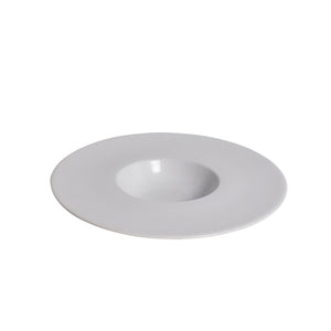 White Porcelain Small Well Bowl with Wide Rim IEP