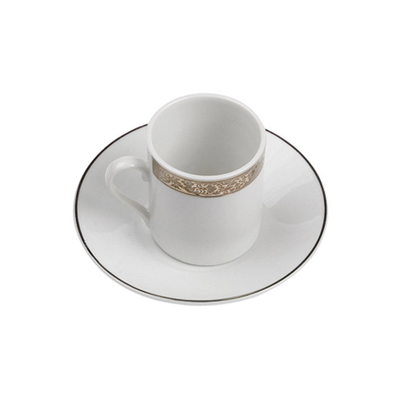 Porcelain Demitasse Espresso Cup with Saucer IEP