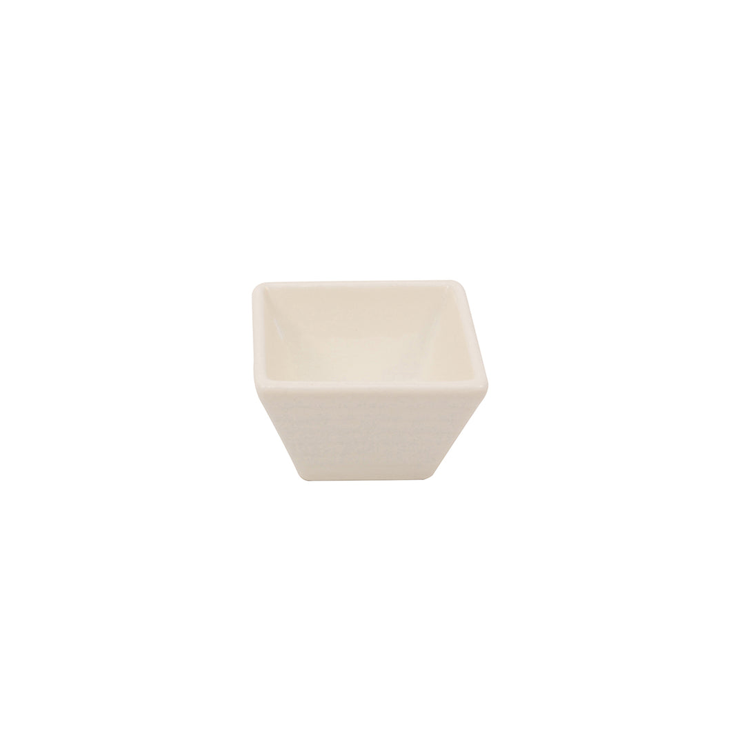 Ribbed Square Condiment Cup- White 2