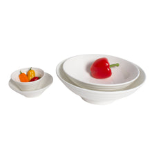 Load image into Gallery viewer, White Porcelain Ribbed Flares & Round Serving Bowls IEP