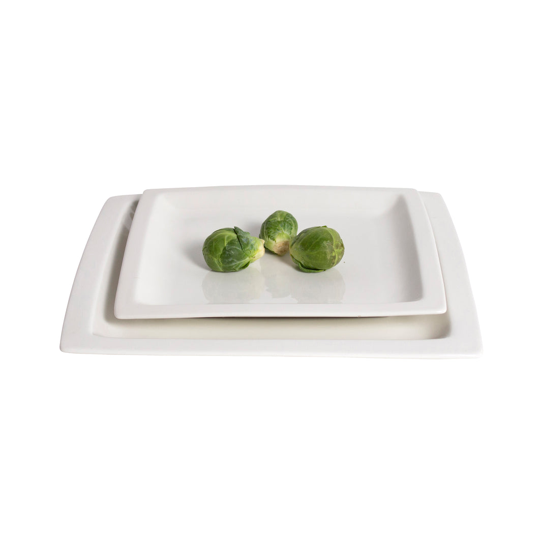 White Porcelain Shallow Square Plates IEP