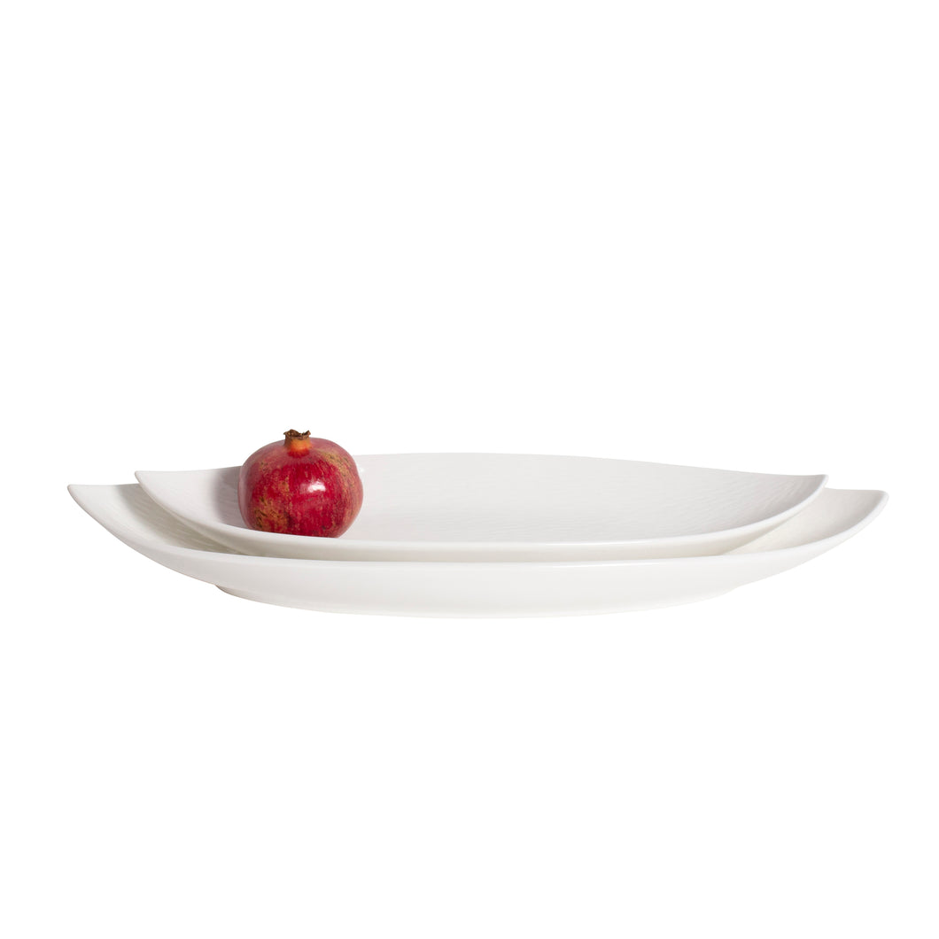 White Porcelain Tapered Family Style Platters IEP